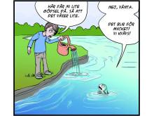 Serie från Hej fisk! Illustratör Yvette Gustafsson