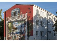 Färdig målning på Brunskogsbacken 40 i Farsta Strand.