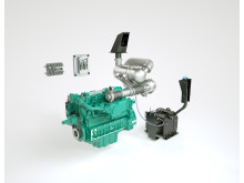 Volvo grävmaskiner - D6 motor steg 4