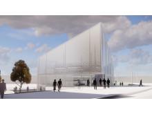 Förslag till cykelparkeringshus vid Gamlestadens resecentrum