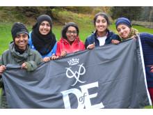 Members of last year's Duke of Edinbugh scheme celebrate reaching their Gold Award