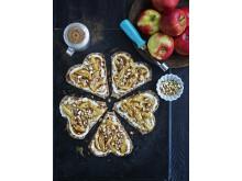 Knäckepizza - Äppelhjärtan
