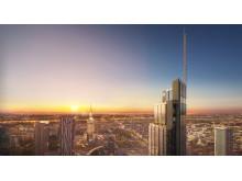 Fotomontage av nya Varso Tower