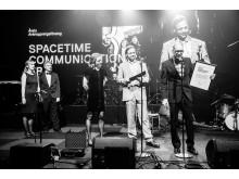 Spacetime tar emot priset som Årets Avknoppningsföretag på Umeågalan 2017.