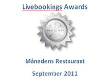 Livebookings award september