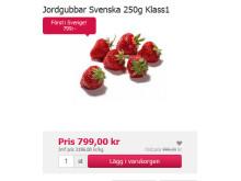Årets första svenska jordgubbar på MatHem