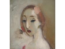 """Helene Schjerfbeck (1862-1946), """"Ung kvinna"""""""
