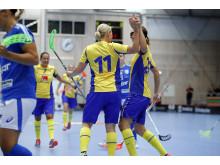 Sveriges damlandslag vann med 5-4 mot Finland.
