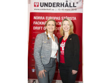 Tina Thörner och Anna Jarnö på Underhållsmässan 2016