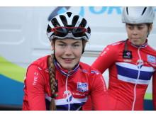 Martine Gjøs under sykkel-VM