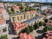 Pulsen Fastighet: Flygfoto över fastighet på Stengärdsgatan, Borås