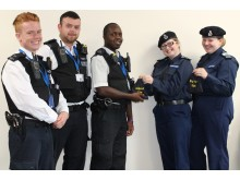 Hammersmith and Fulham PCs with Volunteer Police Cadets