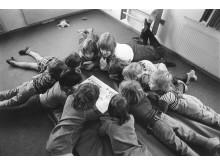 Sagostund på en förskola 70-80-tal.