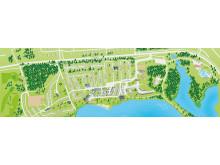 Karta över Ansias campingområde
