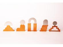 Miniatyrskulpturer, formgivna av Jonatan Nilsson