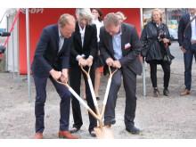 Första spadtaget för energismarta hus i Västra Hamnen