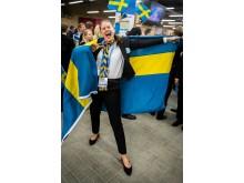 Stor glädje när Jonna Mjörnell tog hem brons i Yrkes-VM.