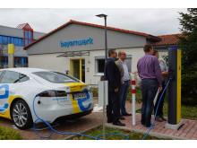 Neue Lademöglichkeiten am Bayernwerk-Netzcenter Marktheidenfeld für Elektrofahrzeuge