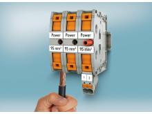 Stærkstrømsklemmer med Push-in tilslutning