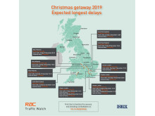 Expected long traffic delays on roads - Christmas 2019