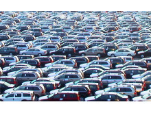 Cars in Port of Gothenburg