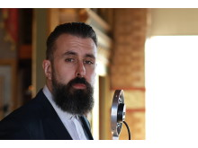 Scroobius Pip presenting the BBC Lifeline Appeal for the BSA