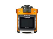 Ricoh WG-M2. orange ovanifrån