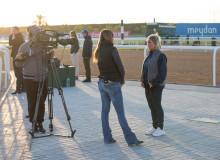 I Kirks tränare Susanne Berneklint intervjuas i Dubai