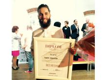 Guld till Högberga Gårds Tommy Eriksson i Årets Möteskock 2015
