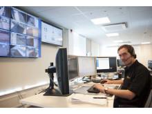 Kamerabord i Stanley Securitys säkerhetscenter