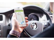 Svensk teknik halverar tid att hitta ledig parkeringsplats