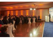 Staatsminister für Wirtschaft, Landesentwicklung und Energie Hubert Aiwanger begrüßt die Teilnehmer der Preisverleihung auf dem Bayrischen Exportpreis 2018
