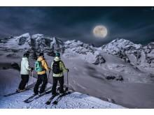Vollmond-Skifahren auf der Diavolezza