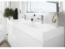 MIE baderomsmøbler fra VikingBad har en elegant og funksjonell finish.
