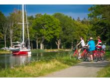 Cykla utmed Göta kanal