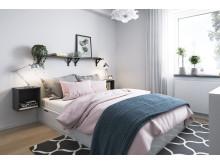 BoKlok 2 rok sovrum - möbleringsförslag