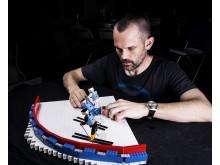 Charlotte Kalla - i Lego. Foto: Mikael Solebris