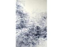 Shi Zhiying, Tree, 2016, olja på duk, 200 x 130 cm