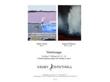 Julius Nord och Anneli Nilsson Vernissage i Väsby Konsthall 13/2 2016