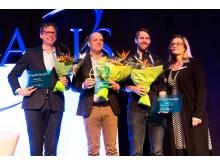 Finalisterna i eHealth Award 2017 och statssekreterare Agneta Karlsson