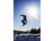 Tricks på ski.