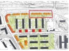 Farsta, karta över byggnation