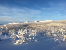 Mot Kistefjell fra Irggasjohka i Troms