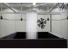 hansgrohe Raindance PowderRain i Hansgrohes lydlaboratorium