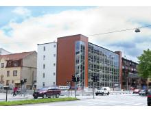 AB Bostäder i Borås - Studentlägenheter i Kvarteret Bifrost, granne med Högskolan i Borås
