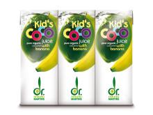 Dr. Martins Coco Kids Juice banan 3 pack økol 3x200 ml