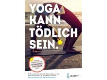 """Anzeige """"Yoga kann tödlich sein"""""""