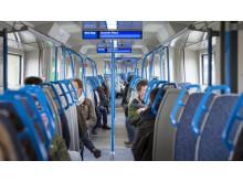 Interior of new Moorgate train 25.03.19