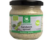 Urtekram sandwich spread basilika luomu