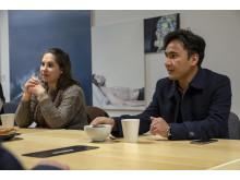 Malmö stads nya fristadsförfattare Mukhtar Wafayee med hans fru Nilofar Langar.